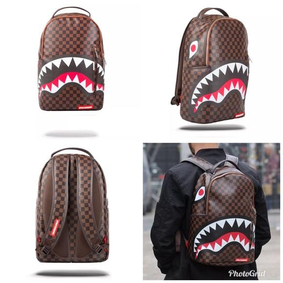 242b4906f9be NWT Sprayground Sharks in Paris Backpack